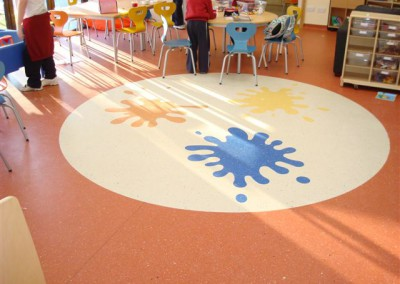 Specialist designs by Gerry Cronolly Flooring for Schools